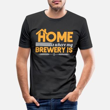 Hop Home Is Where My Brewery Is Home Brew Craft Beer - Men's Slim Fit T-Shirt