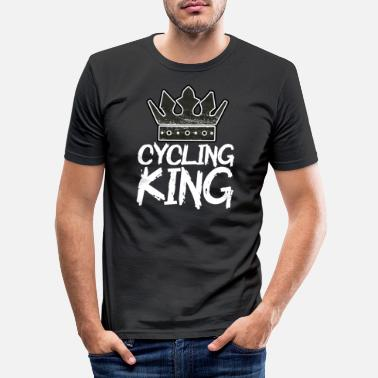 Bike Chrismas cycling king - Männer Slim Fit T-Shirt