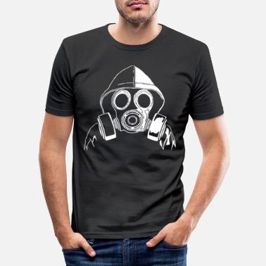 Gas gas mask - Men's Slim Fit T-Shirt