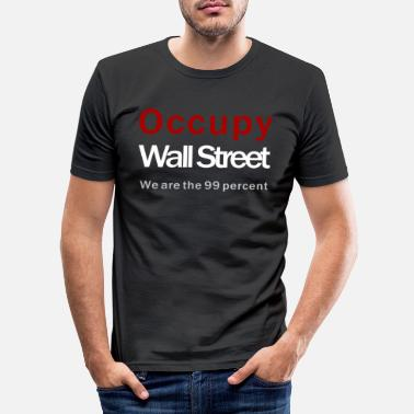 Occupy Wall Street Occupy Wall Street black - Männer Slim Fit T-Shirt
