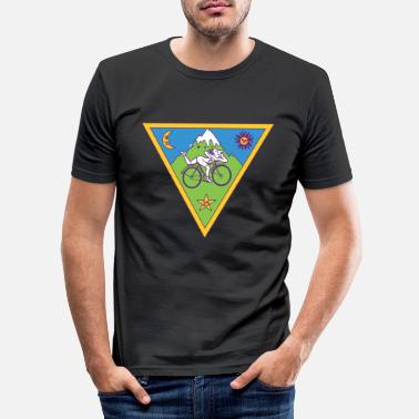 Albert Hofmann Albert Hofmann LSD-driehoek - Mannen slim fit T-shirt