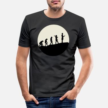 Stylish Otolaryngologists Evolution Moon - Männer Slim Fit T-Shirt