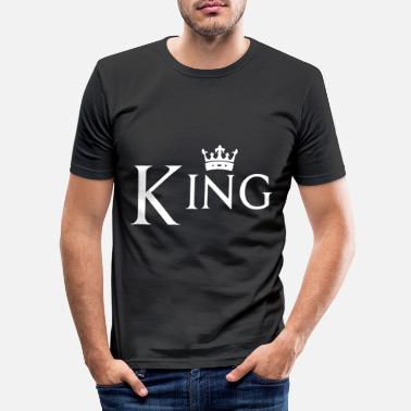 King Couple design! King - Queen! - Men's Slim Fit T-Shirt