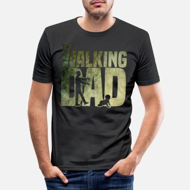 Vatertag The walking Dad - Zombie - Papa -Humor-Baby-Vater - Männer Slim Fit T-Shirt