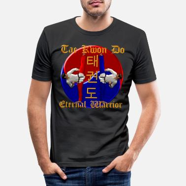 Karate Tae Kwon Do Warrior - Men's Slim Fit T-Shirt