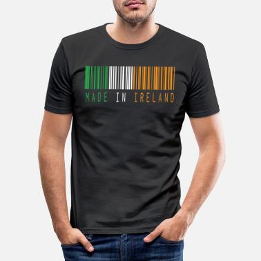 Soccer MADE IN IRELAND BARCODE - Men's Slim Fit T-Shirt