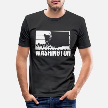 United Washington Bundesstaat | USA Amerika Seattle State - Männer Slim Fit T-Shirt