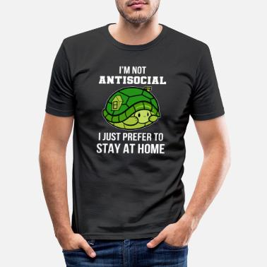 Nerd not antisocial anti social gift - Men's Slim Fit T-Shirt