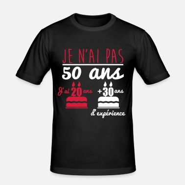 pas 50 ans anniversaire cadeau d 39 anniversaire t shirt homme spreadshirt. Black Bedroom Furniture Sets. Home Design Ideas