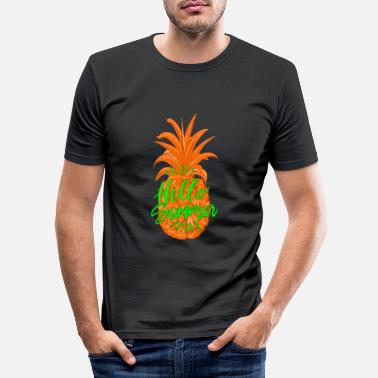 Ananas Sommer Fruchtiges Hallo Sommer Shirt - Mannen slim fit T-shirt