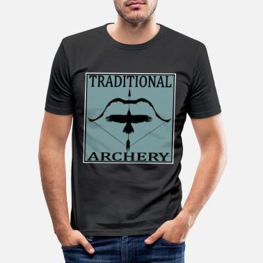 Post Traditional Archery - Männer Slim Fit T-Shirt