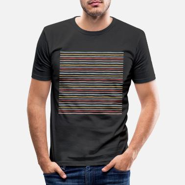 Small colored lines - Men's Slim Fit T-Shirt