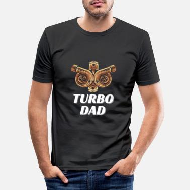 Sportscar Turbocharger father tuning compressor mechanic - Men's Slim Fit T-Shirt