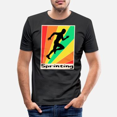 Sprinting Sprinting posters Sprinting - Men's Slim Fit T-Shirt