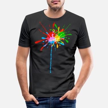 Colour Color splashes gift idea colorful splashes of cool - Men's Slim Fit T-Shirt