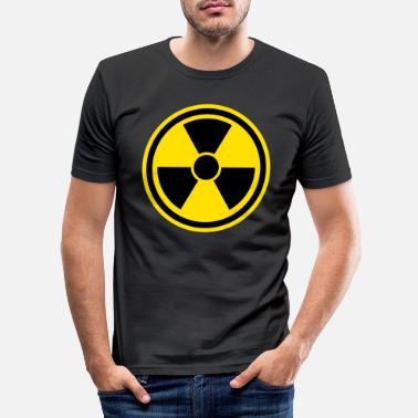 Vektor Warnschild Nuclear - Männer Slim Fit T-Shirt
