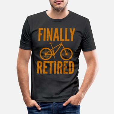 Cycling Bicycle pension mountain bike racing bike pension - Men's Slim Fit T-Shirt