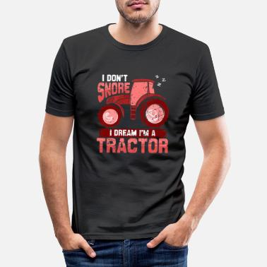 Aunt Funny gift farmer chicken tractor shirt - Men's Slim Fit T-Shirt
