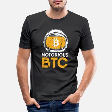 Just Funny Gift Bitcoin Crypto JUST Shirt - Men's Slim Fit T-Shirt