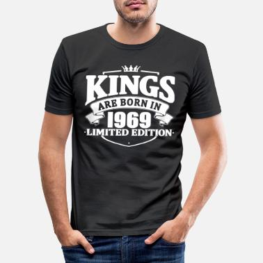 50th Birthday Kings are born in 1969 - Men's Slim Fit T-Shirt