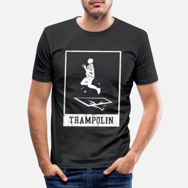 Springbrett Trampolin springbrett gave - Slim fit T-skjorte for menn