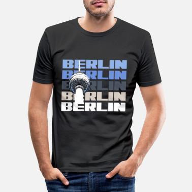 State Capital Berlin capital state television tower - Men's Slim Fit T-Shirt