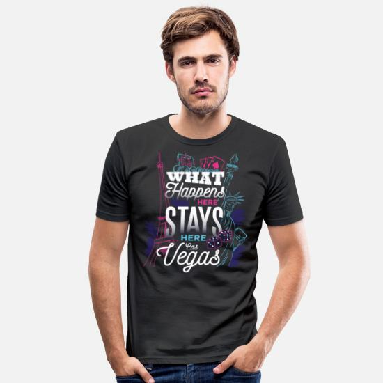 Vegas T-shirts - Las Vegas - Slim fit T-shirt mænd sort