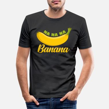 Banana Bananas are fruits dessert banana paradise figs - Men's Slim Fit T-Shirt