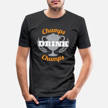 Champ Champs Drink Champs - Mannen slim fit T-shirt