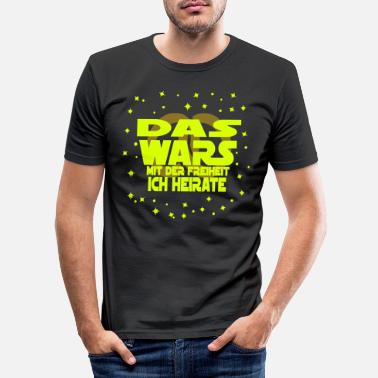 Heiraten das wars ich Heirate Ring - Männer Slim Fit T-Shirt
