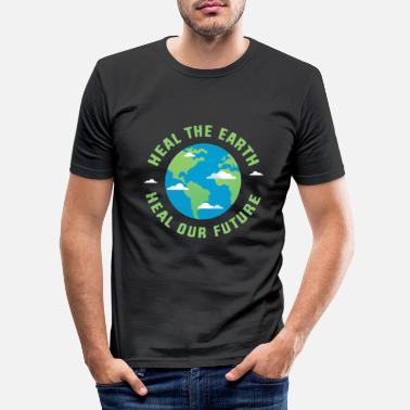 Healing Heal the earth heal our future - Men's Slim Fit T-Shirt