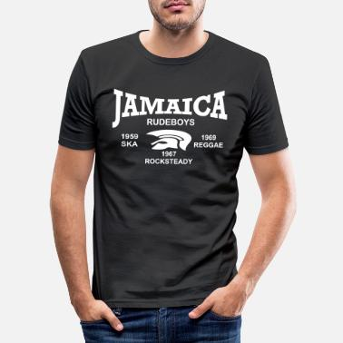Rudeboy jamaica trojan rudeboys - T-shirt slim fit herr