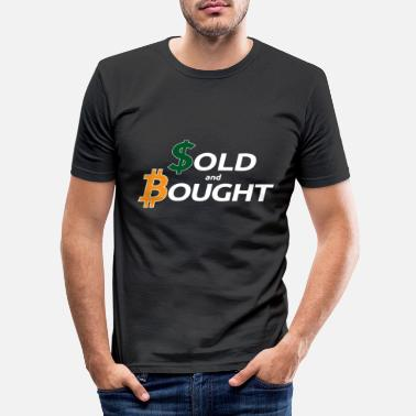 Dollar bitcoin bought with fiatmoney coin currency - Men's Slim Fit T-Shirt