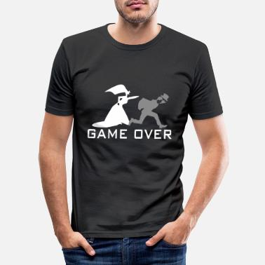 Over Bachelor farewell game over-bachelor party - Men's Slim Fit T-Shirt