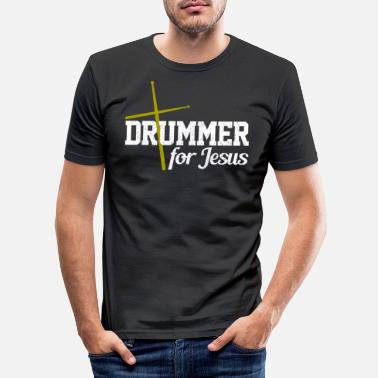 Drum Drummer For Jesus - Percussion Christian Gift - Mannen slim fit T-shirt