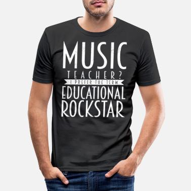 Music Teacher music teacher - Men's Slim Fit T-Shirt