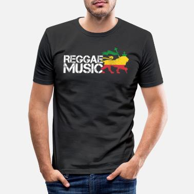Reggae music Rastafarian Jamaica gift - Men's Slim Fit T-Shirt