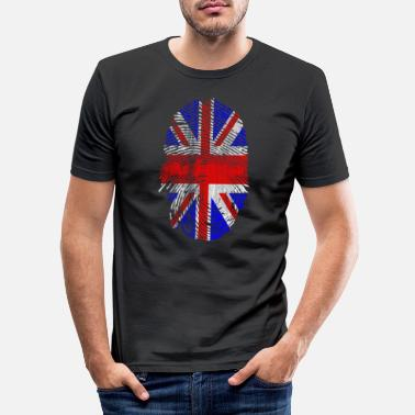 London Großbritannien Bestimmung Flagge - Männer Slim Fit T-Shirt