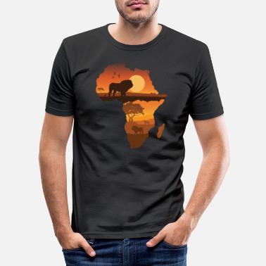 Safari Löwe Safari - Männer Slim Fit T-Shirt