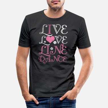Salon Line dance saloon - Mannen slim fit T-shirt
