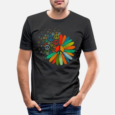 Hippie Peace sign hippie - Men's Slim Fit T-Shirt