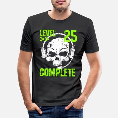 Clan Level 25 Complete 25. Geburtstag Gamer & Zocker - Männer Slim Fit T-Shirt