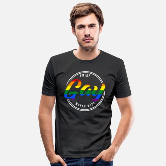 Gay Pride T-Shirts - LGBT rights gay tolerance gay pride lesbian - Men's Slim Fit T-Shirt black