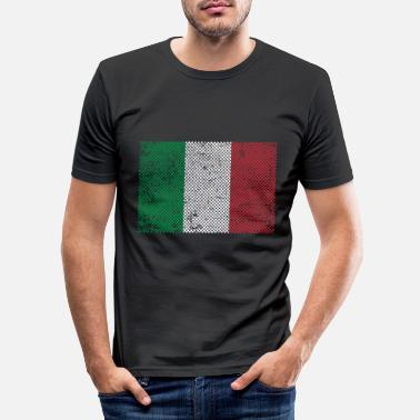 Roma Italia flagg - Slim fit T-skjorte for menn