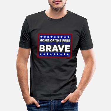 Patriot BRAVE - freedom and independence - Men's Slim Fit T-Shirt