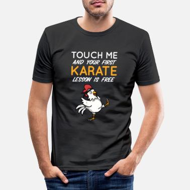 Lektion Karate Gratis Lektion - Männer Slim Fit T-Shirt