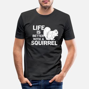 Squirrel squirrel - Men's Slim Fit T-Shirt