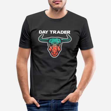 Tradition Day Trader Trader Bulle - T-shirt moulant Homme
