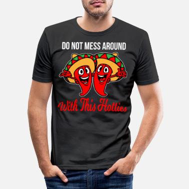 Spain Spain Sombrero country holiday funny siesta chili - Men's Slim Fit T-Shirt