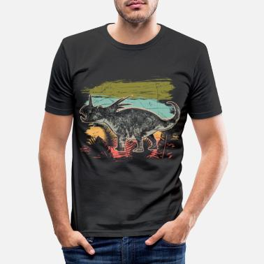 Contre Dicératops Dinosaur Wilderness Jungle Fossil - T-shirt moulant Homme